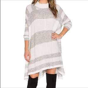 Free People Lafayette Alpaca Wool poncho tunic